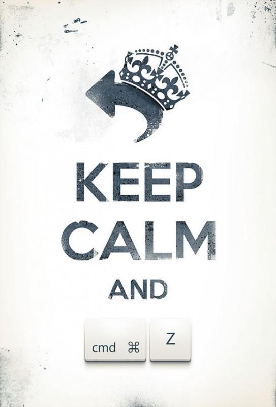 keep calm and cmd z 543x800 Keep Calm & Ama a tu diseñador Web #1