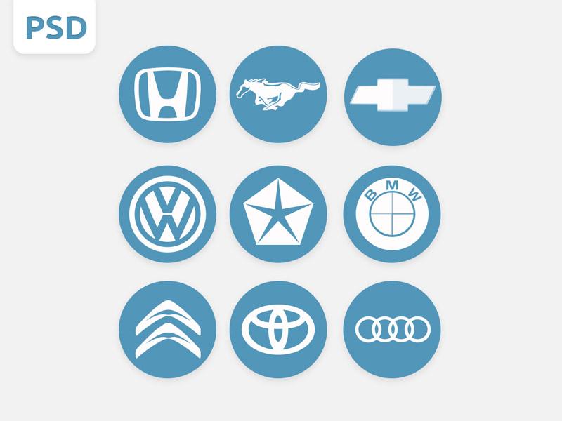Psd Gratis Logos De Marcas De Autos